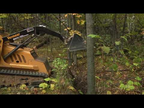 Creating mountain bike trails with the Vermeer S800TX mini skid steer loader