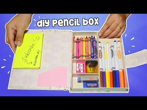 How To Make Pencil Box| DIY Pencil Case| Back To School