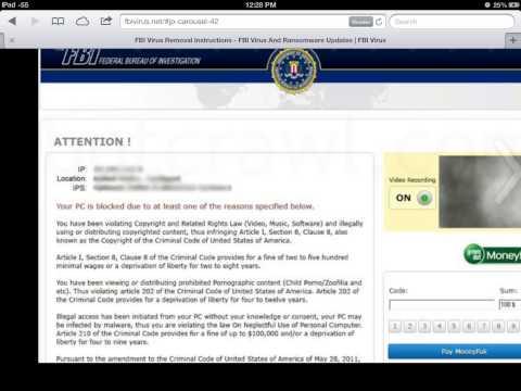FBI VIRUS HELP