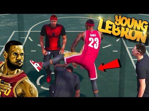 Young LeBron James Build - Disrespectful STEP OVER POSTER! - NBA 2K18 3v3 Park