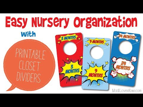 Printable Superhero Closet Dividers - Easy Way to Organize Baby Clothes in Your Nursery
