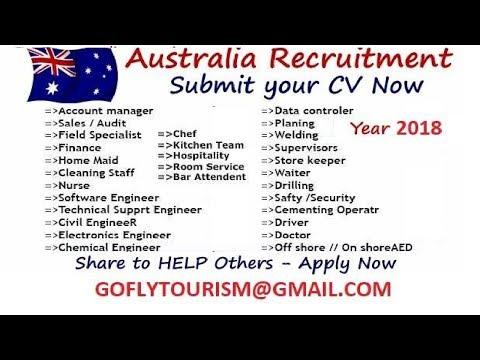 Free Jobs List and Last Date Apply Australia