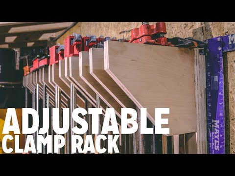 DIY Adjustable Clamp Rack