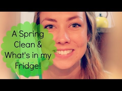 Spring Cleaning & What's in my Fridge
