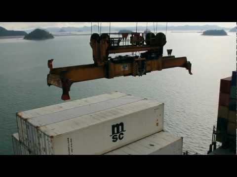 Loading of a container ship