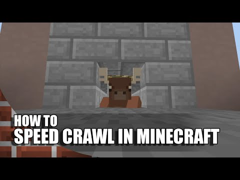 How To Speed Crawl In Minecraft (No Mods/Command Blocks)