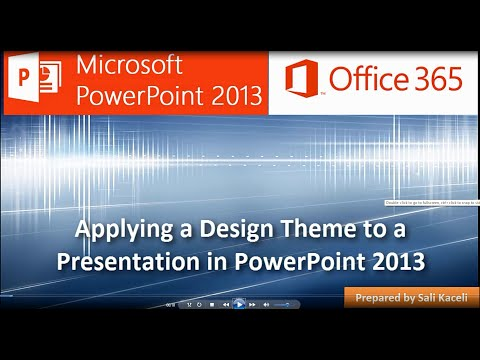 Applying a Design Theme to a Presentation in PowerPoint 2013 (5 of 18)