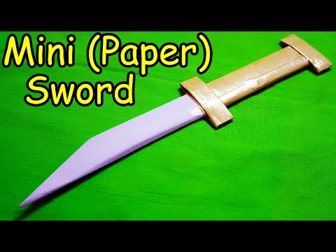 How to make a Paper Sword (Mini Sword)