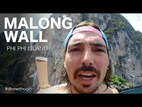 Scuba diving by Malong Wall - Phi Phi Island 2017