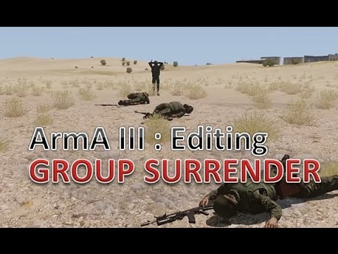 ArmA 3 Mission Editing: How to have A.I. groups surrender after taking losses