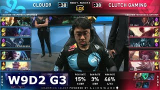 C9 vs CG | S9 LCS Spring 2019 Week 9 Day 2 | Cloud 9 (Academy) vs Clutch Gaming W9D2