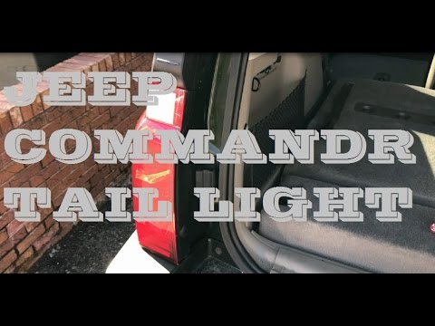 How to remove rear taillights and bulbs Jeep Commander