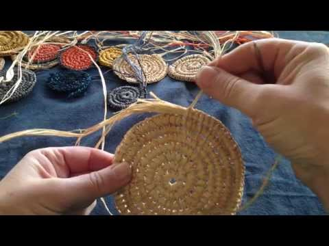 Craft School Oz - finishing off a coiled basket