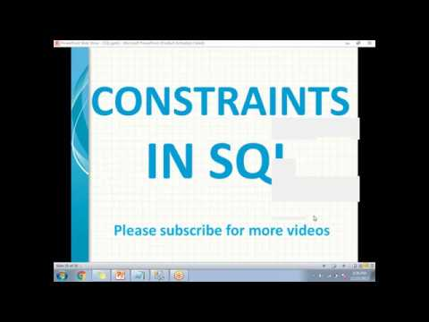 Types of Constraints in SQL Server