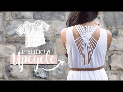 DIY Clothes | T-Shirt Upcycle with Macrame!