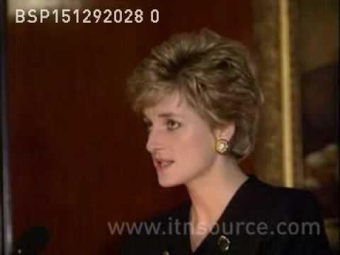 Princess Diana's 1st speech since separation