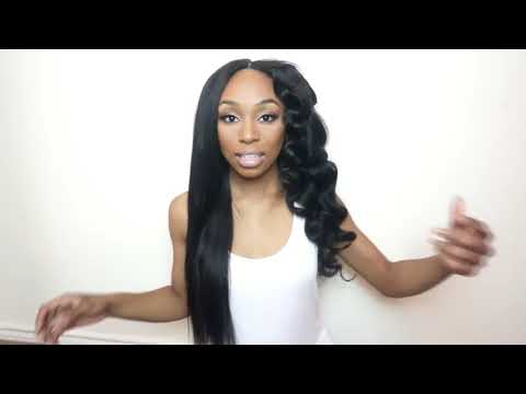 Maxglam Hair Review Brazilian Body Wave Styling Tutorial Using Flexi Rods - Straight vs Curly