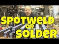 To spot weld or solder 18650 cells