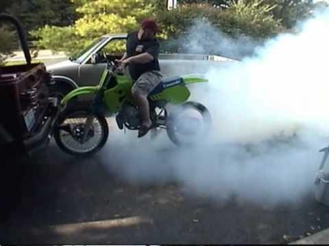 1989 Kawasaki KX 250 Burnout