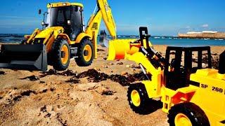 Der kleine #Bagger macht den Strand sauber 🐚 Video mit #Spielzeugautos 🚚 #Spielzeuge für Kinder
