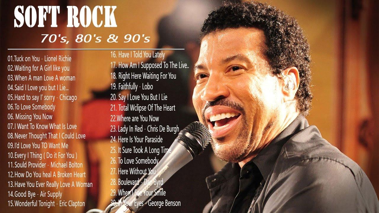 Lionel Richie ,Phil Collins, Air Supply, Bee Gees, Chicago, Rod Stewart - Best Soft Rock 70s,80s,90s