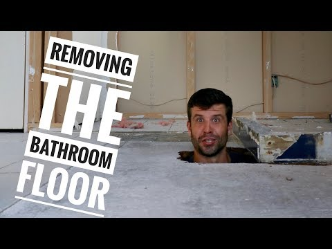 Removing a Bathroom Floor