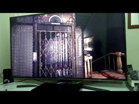 PC ligado na TV 4K Samsung UN50KU6000