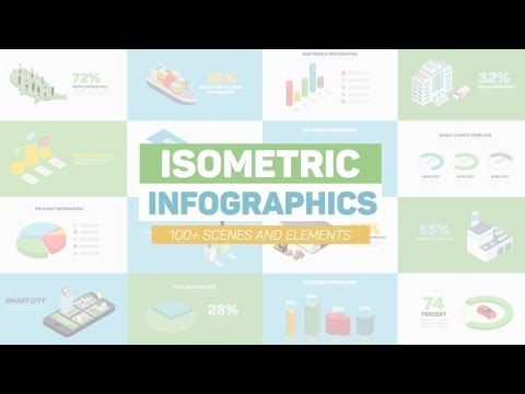 Isometric Infographics ( After Effects Project Files)