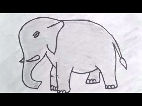 how to draw an elephant easy way | elephant animal colouring pages| drawing simple elephant drawing