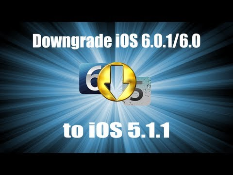 Downgrade iOS 6.0.1 to iOS 5.1.1 [iPhone 4,3Gs;iPod Touch 4]