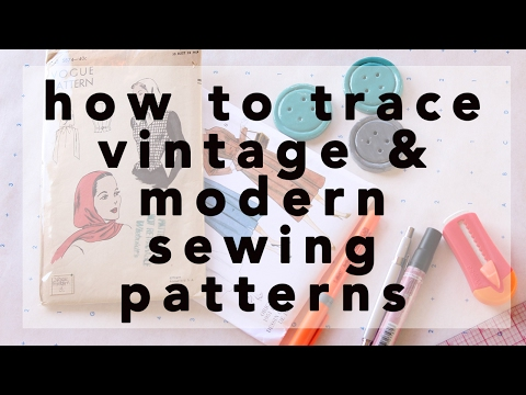 How to Trace Vintage and Modern Sewing Patterns   Vintage on Tap