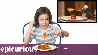 Kids Try Famous Foods From Movies, From Harry Potter to Ratatouille | Bon Appétit