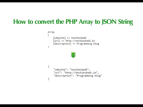 How to convert the PHP Array to JSON String
