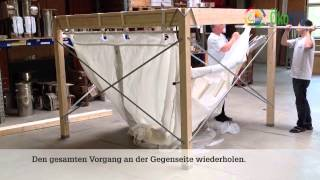 ÖkoFEN: Montage Flexilo Compact Gewebetank