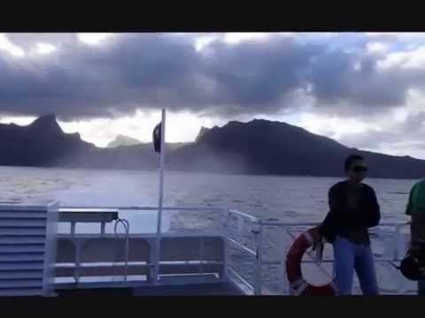 back from Moorea to Papeete on the ferry in the tempest - roundtheworld 1, 508