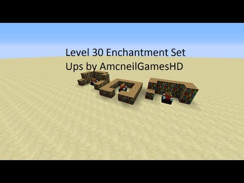 Minecraft: Level 30 Enchantment Table Set Ups