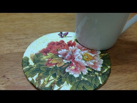 How To Upcycle an Old CD to a Colorful Coaster - DIY Home Tutorial - Guidecentral