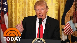 President Donald Trump Blasts Media, Defends Record At Press Conference | TODAY