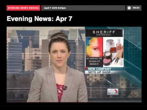 Global News Regina Spring  2013 - How to become a professional makeup artist School