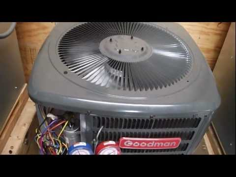 Goodman 2-ton heat pump running in HEAT mode