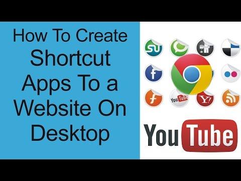how to google chrome webpage shortcut desktop