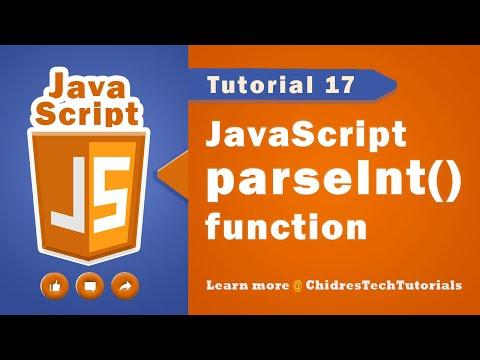 JavaScript tutorial 34 - parsetInt() in javascript   type casting