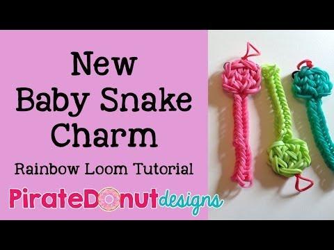 Baby Snake Charm Rainbow Loom Tutorial
