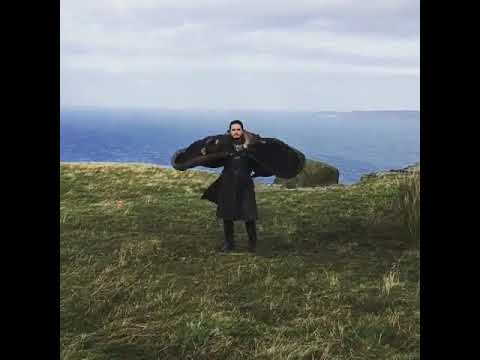 Jon Snow Flying Like Dragon - Game Of Thrones Seasoon 7 - Emilia Clarke's Insta Post