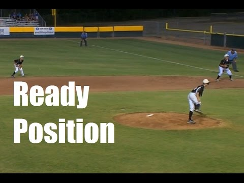 Infield ready position in youth baseball - LLWS 2015 Texas demonstrates.