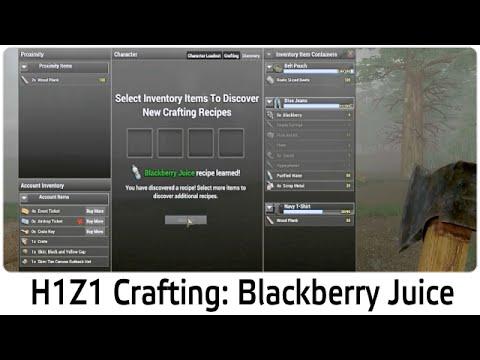 H1Z1 Crafting: Blackberry Juice