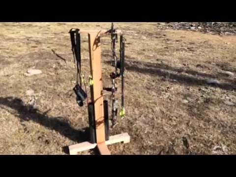 Building an Archery Bow Hanger & Arrow Stand