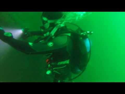 Scuba Diving the shipwreck A.E. Vickery, dive accident