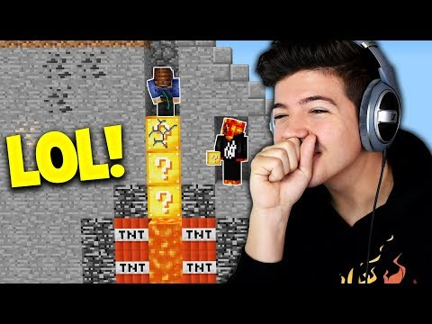NEVER play THE NEW Lucky Block SKY WARS with PrestonPlayz 😂