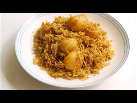 Baby potato biryani recipe | Indian food recipes